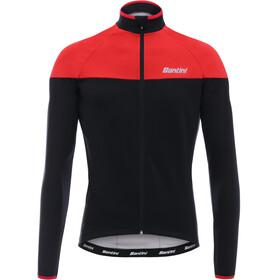 Santini Hermes maglietta a maniche lunghe Uomo rosso/nero